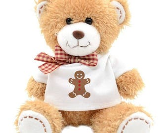 Merry Christmas Teddy Bear Gingerbread Men Cookie Holiday Gift