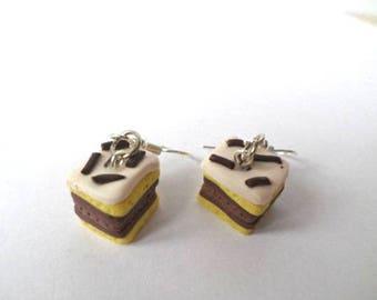Neapolitan polymer clay earrings