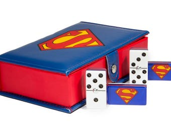 Superman Domino 100% Acrylic, Faux Leather Case