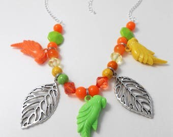 multi metal tropics pendants necklace