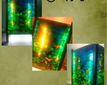 Tableau lumineux Plante Aquatique