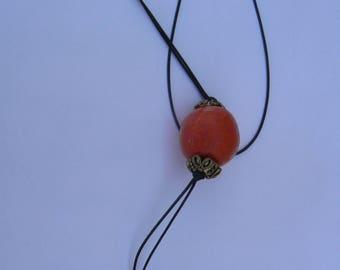 Orange ball pendant