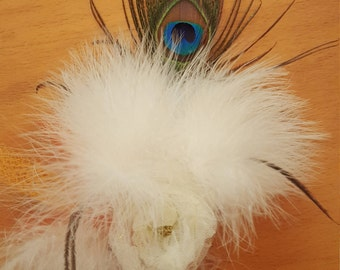 handmade feather hair accessories