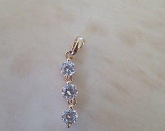 gold plated pendant and zirconium