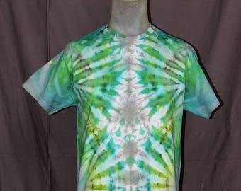 Handmade Ice Tie-Dyed T-Shirt: Medium