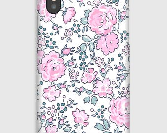 Case for iPhone X 8, 8 +, 7, 7 +, 6s, 6, 6s +, 6, 5 c, 5, 5s 5SE, 4s, 4 Liberty Felicity gray