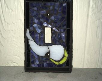 Minnesota Vikings Glass Mosaic Single Toggle Light Switch Cover Plate