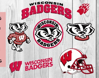 Wisconsin Badgers SVG, Wisconsin Badgers DXF PNG cutting file, Printable, T-shirt Design, Scrapbooking Clipart