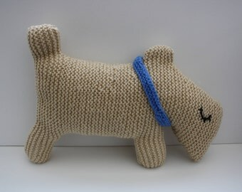 Hand Knitted Dog Cushion