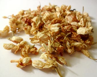 Dried jasmine flowers, 6 g-petals-making candles Creation-natural jewelry