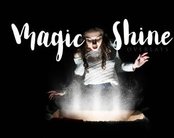Magic Shine Overlay, Book Shine, Sparkles, Present, Christmas Overlay, Magical, Magic, Photoshop,