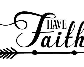 Have Faith Arrow Decal