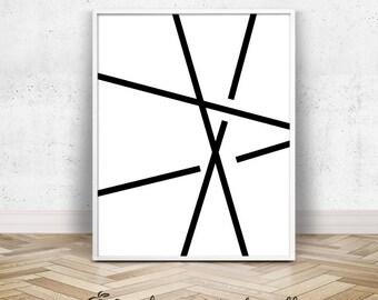 Abstract line art etsy for Minimal art kunstwerke