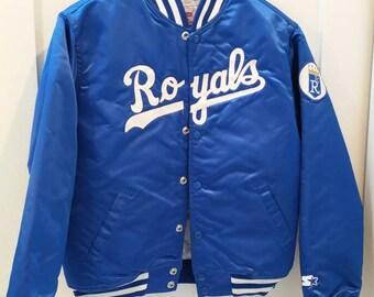 Vintage Kansas City Royals Satin Jacket by Starter / Diamond Collection / Vintage Starter Jacket / Satin Jacket