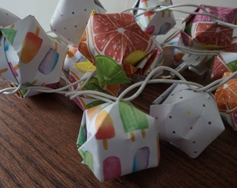 Origami Paper Lantern String Lights