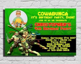 Teenage Mutant Ninja Turtles Birthday Invitation, Teenage Mutant Ninja Turtles Invitation, Ninja Turtles Birthday Invitation,TMNT Invitation