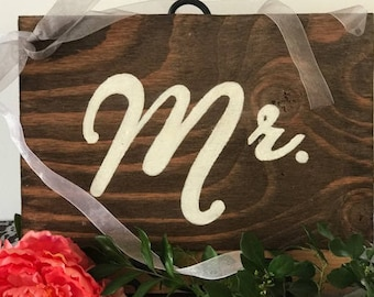 Mr. and Mrs. Wood Signs, Chair Signs, Wedding Decor, Wood Decor, Wedding Chair Signs, Reception Signs
