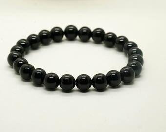 Black Onyx Bracelet- Women's Bracelet- Men's Bracelet- Stretch Bracelet- Beaded Bracelet