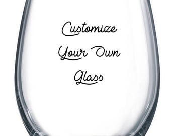 Customized Wine or Beer Glass