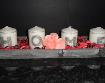 set of 4 candles HOME