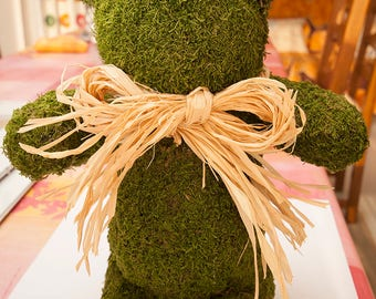 Teddy Bear Decorative Ambience, Holiday, Wedding, Christmas Gift, Decorative Sculpture, Doll, Art Object Natural Green Foam Mousse