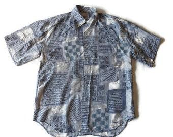 90s crazy pattern shirt