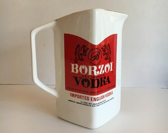 Vintage Borzoi Vodka Pitcher by Wade Regicolor England 1980