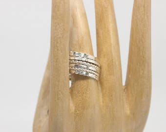 Silver Stacking Rings   925 Sterling Silver   Handmade   Mountain Silver