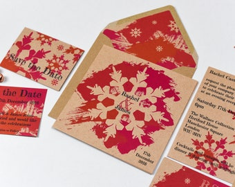 Winter Warmth Kraft Invitation