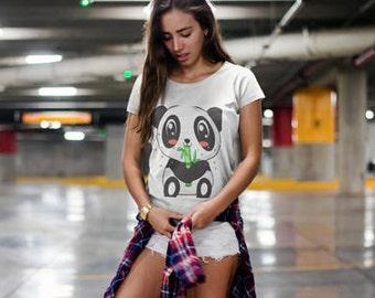 Ladies' Scoopneck Panda T-Shirt
