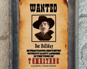 doc holliday val kilmer poster