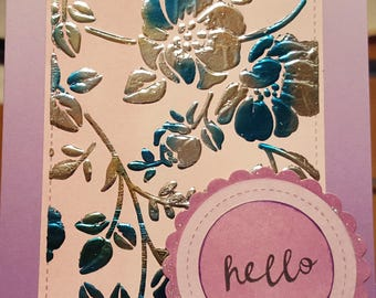 """Any Occasion """"Hello"""" Foil Greeting Card"""