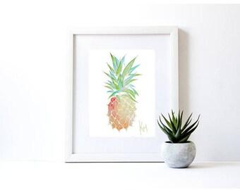 Pineapple Print A4 A3