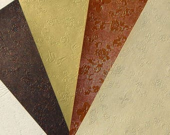 set of 4 sheets of paper A5 metallic appearance (L)