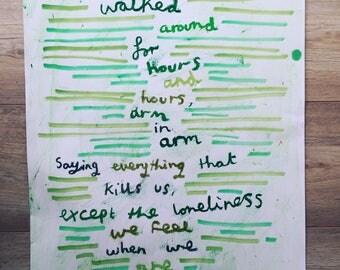 Walking Poem.