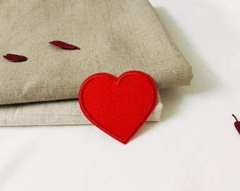 red heart patch-iron on patch -embroidered patch-patch for jacket -DIY