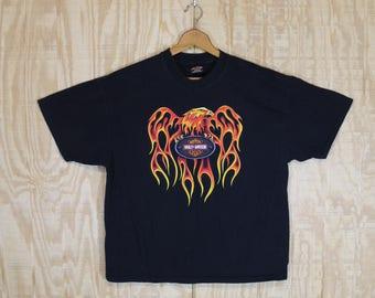 Vintage 1990's HARLEY DAVIDSON Bumpus Memphis Tenn R K Stratman Cotton T Shirt T-shirt Tee Medium Large XL