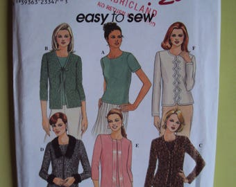 "Simplicity ""Easy to sew"" cardigan and top  pattern -size 14-20- uncut"
