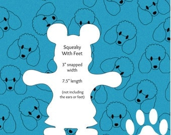 Novelty Cloth Pad Pattern PDF: Squeaky with feet