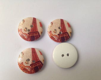 Monument themed wooden buttons