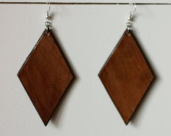Denise Medium Brown Earrings | Leather Earrings | Birthday Gift | Anniversary | Gifts under 25 | Handmade | Gifts for Her