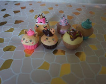 Cupcake in Fimo! 7 variants