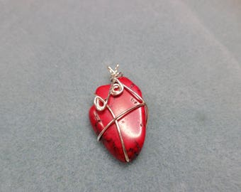 Red Howlite Nugget Wire Wrapped