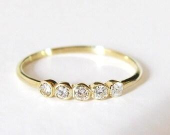 Diamond Band Ring, Thin Diamond Band, Dainty Diamond Ring, Diamond Engagement Ring, Anniversary Band, Diamond Wedding Ring, Wedding Band