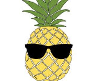 Custom Pineapple Sunglasses Aloha Beaches Vinyl Decal