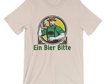 Ein Bier Bitte - One Beer Please German Oktoberfest Unisex T-shirt