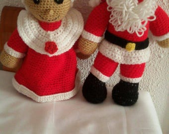 Mr. and Mrs. Claus couple for Christmas