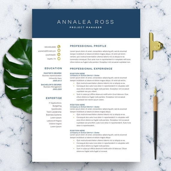 modern resume template for word 1