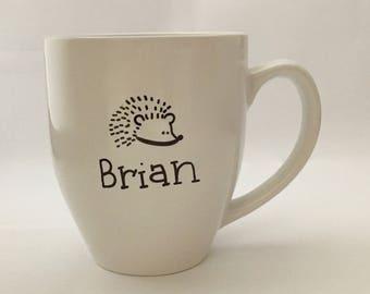 Hand-Draw Hedgehog Name Mug (Customizable)