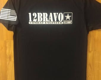 Army - Combat Engineer - Sapper - Mens Army Shirt - Womens Army Shirt - Army National Guard - Army Veteran - Army Wife - US Army - 12 Bravo